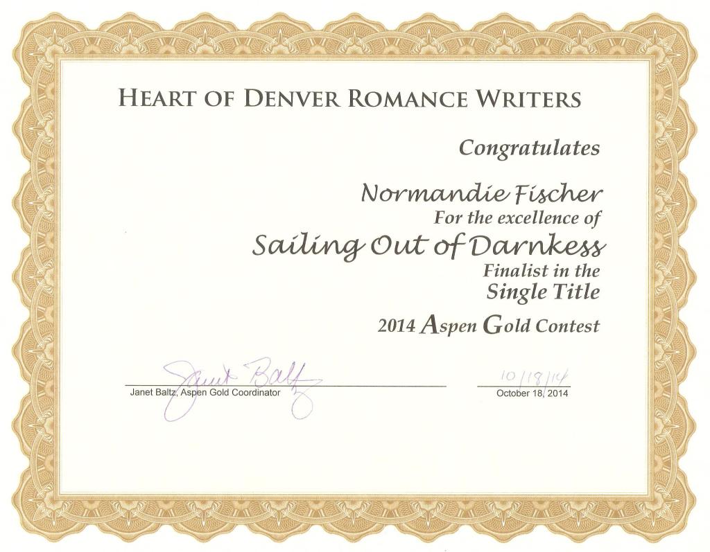 Aspen Gold Certificate 001