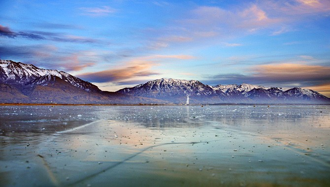 Good ideas are worth sharing at Utah Lake in winter