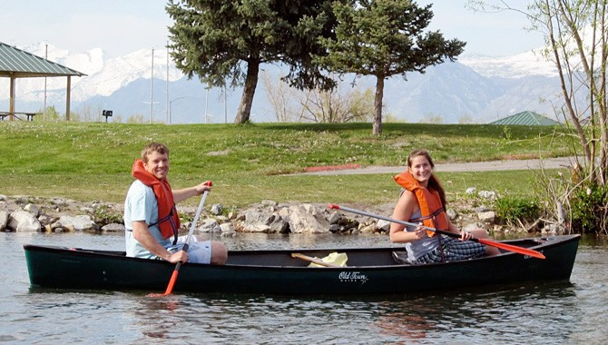 I'm going canoeing on Utah Lake, and you should, too!