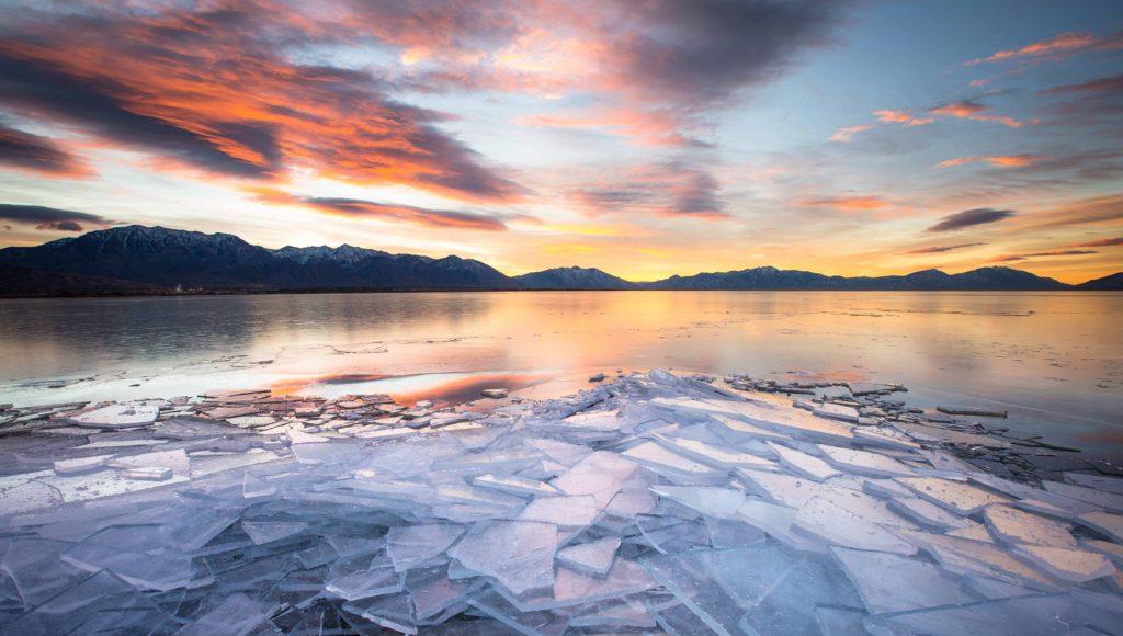 Ice Sheets on Utah Lake