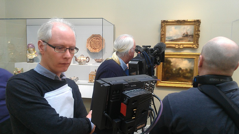 """Future Media Corporation provided lighting, audio and production assistance for BBC's program """"Fake or Fortune"""" at the Detroit Institute of Arts Museum."""