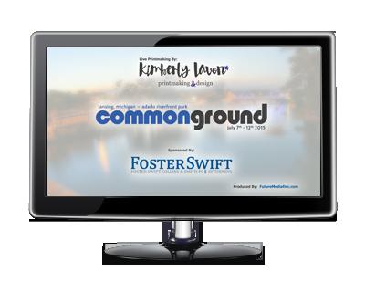 Common Ground – Live Printmaking