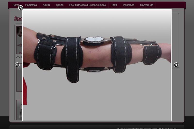 Greater Lansing Orthotic Clinic - Orthotic Photo, designed by Future Media Corporation