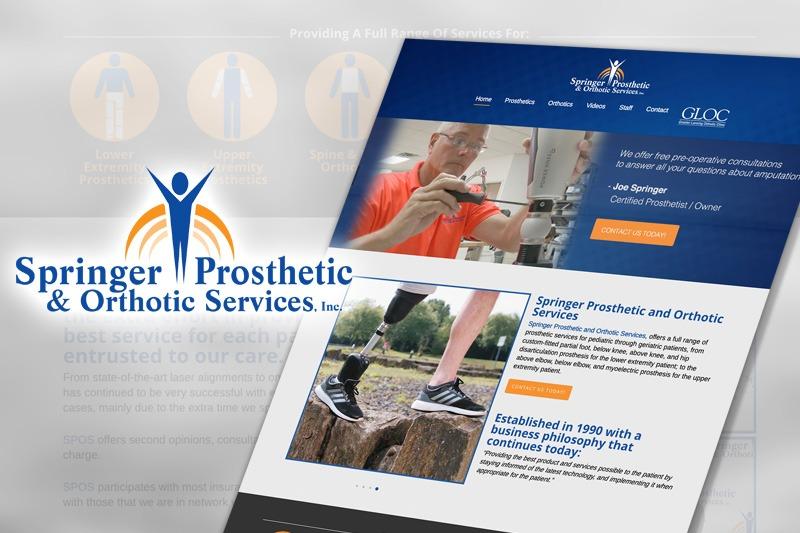 Springer Prosthetics Website, designed by Future Media Corporation