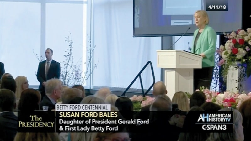 C-SPAN - Betty Ford Centennial – Susan Ford Bales speaking, Grand Rapids Michigan