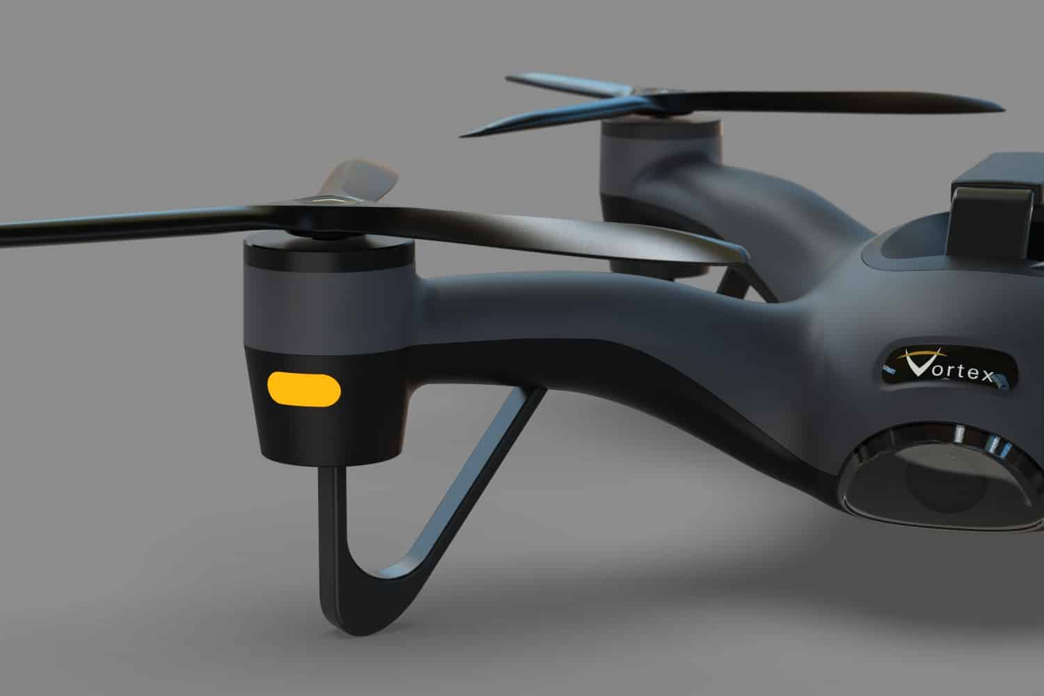 CAD model and rendering of new drone design