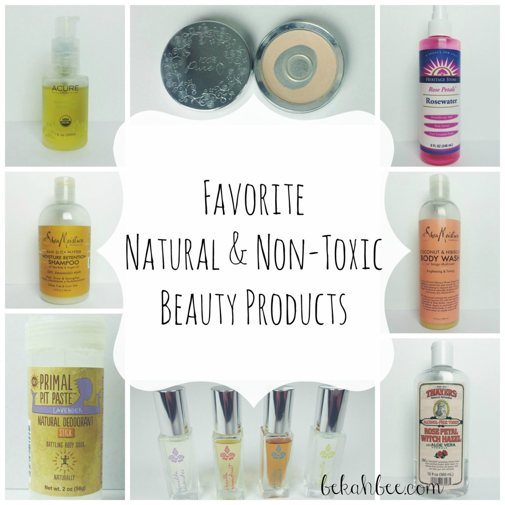 Favorite natural & non-toxic beauty products