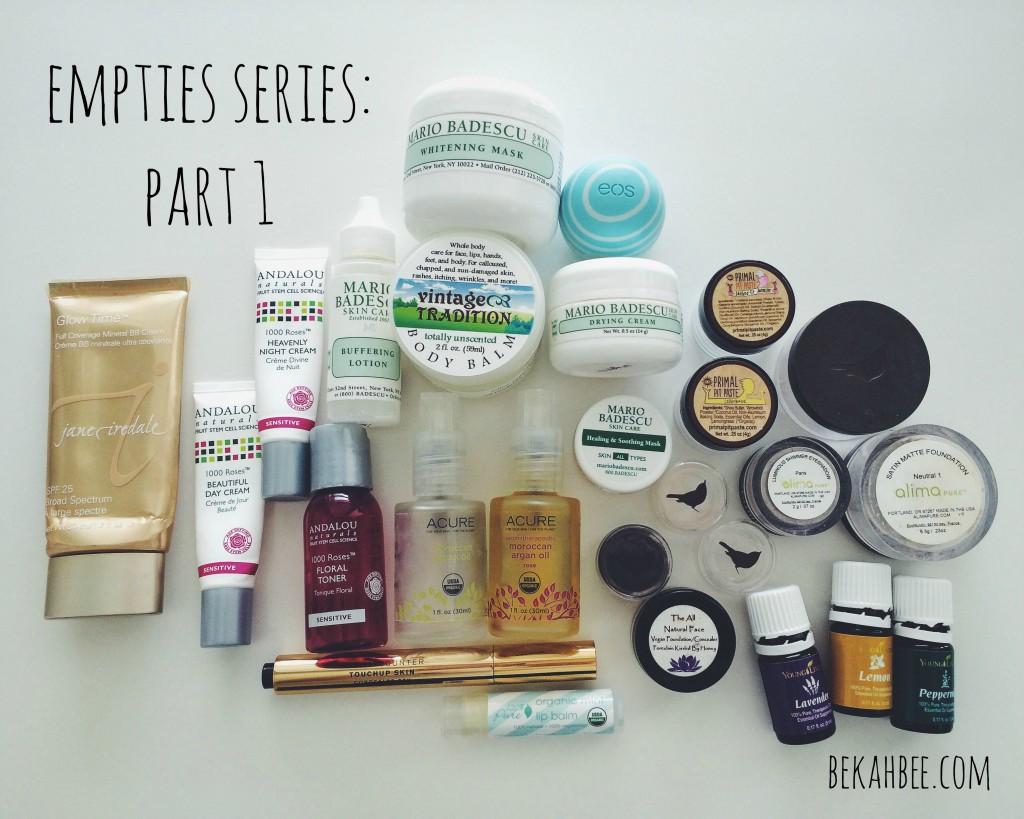 Empties Series: Part 1