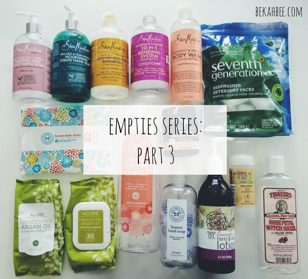 Empties Series: Part 3