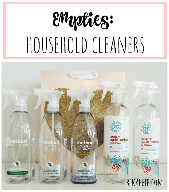 Empties: household cleaners