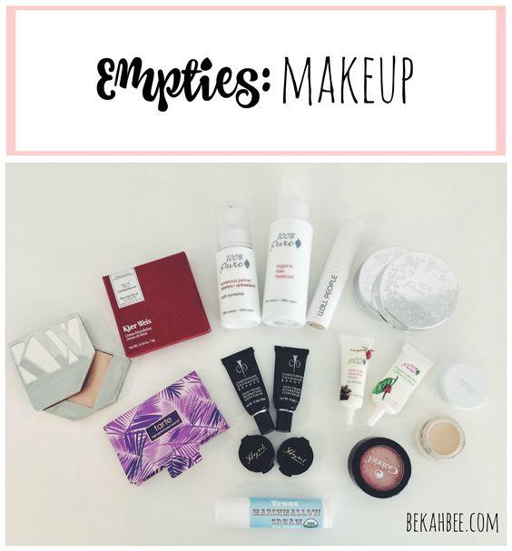 Empties: makeup