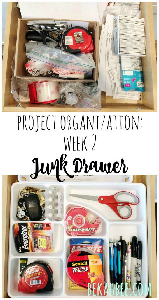 Project Organization Week 2: Junk Drawer