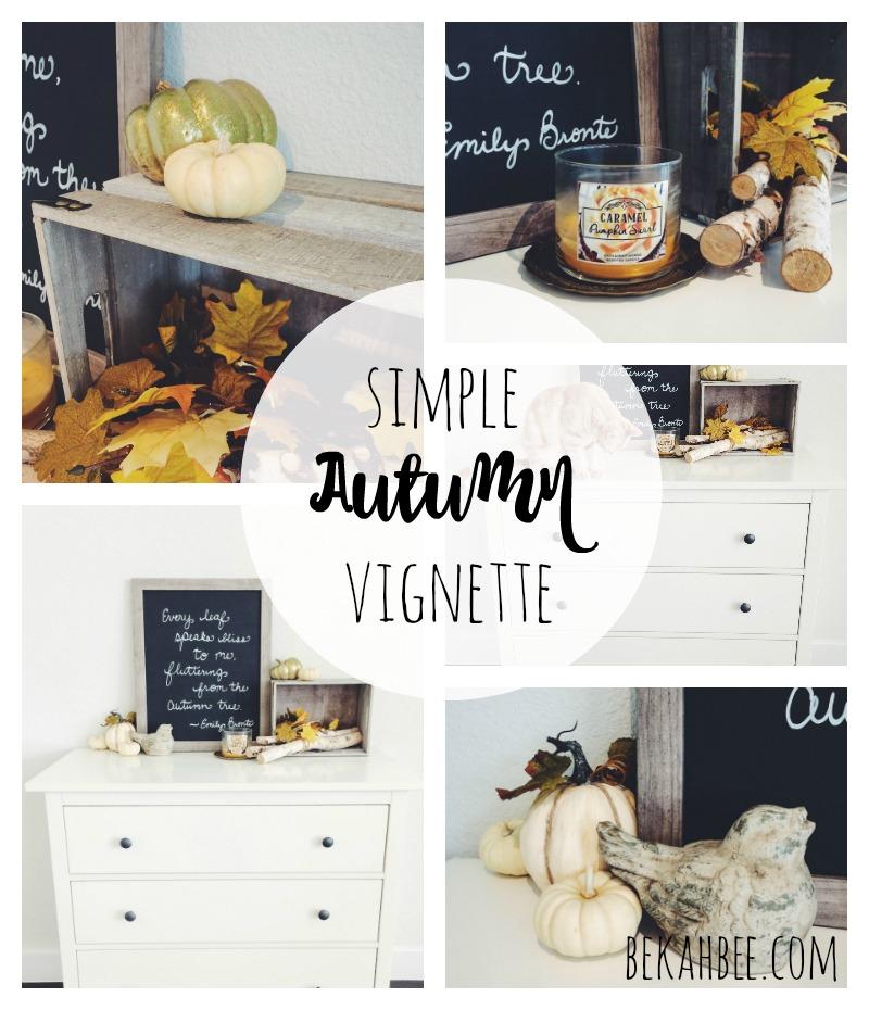 Simple autumn vignette