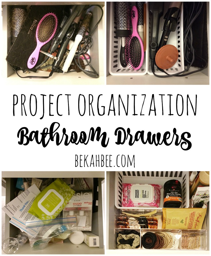 Project Organization: Bathroom Drawers