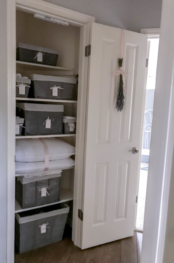 full view of whole linen closet inside