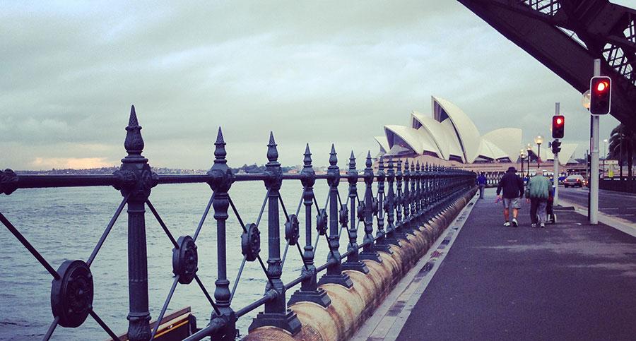 Beneath the Sydney Harbour Bridge. Photo: Chris Ashton