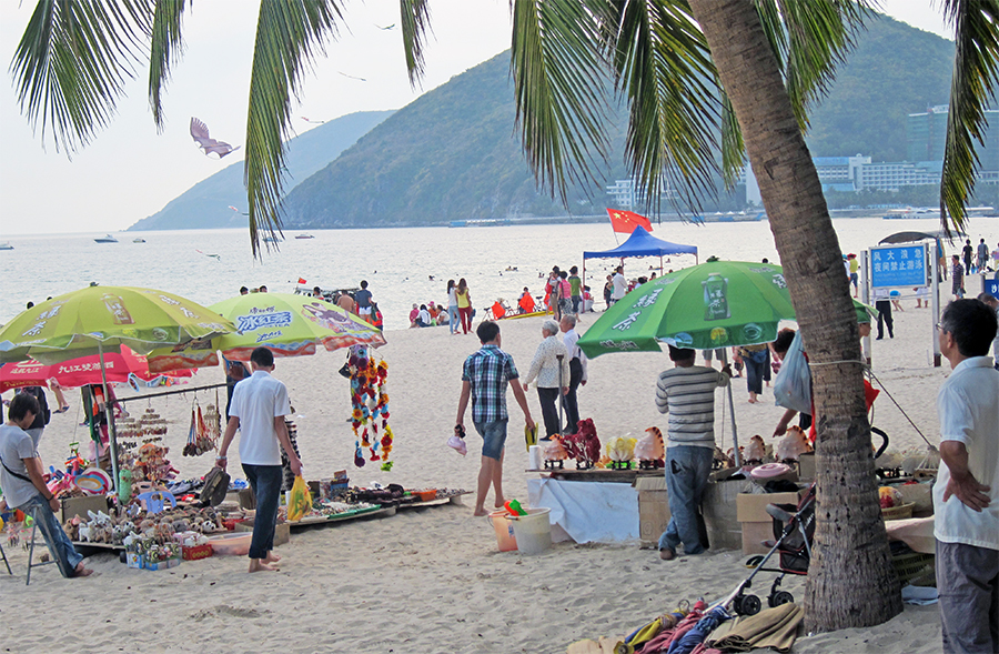 The main beachfront at Sanya. Photo: Chris Ashton