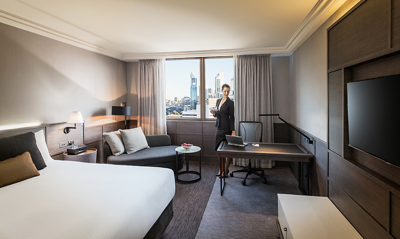 A new look Premier Room. Photo: Pan Pacific Perth