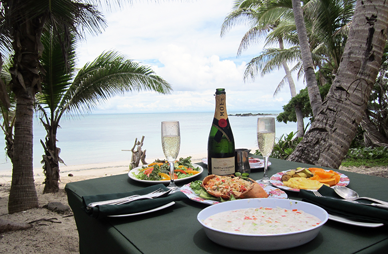 A private picnic on Devil's Beach. Photo: Chris Ashton