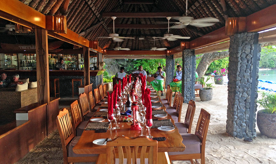 The resort's main dining area. Photo: Chris Ashton