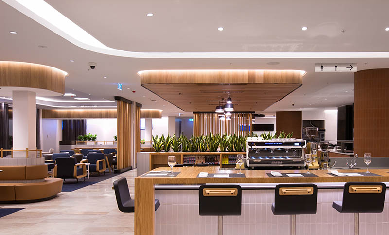 The new Business Lounge at Perth Airport. Photo: Qantas