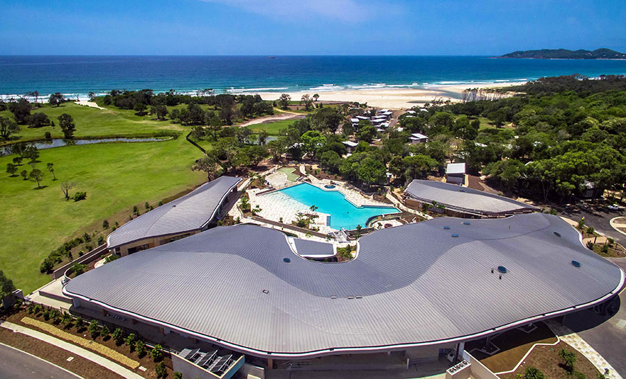 Aerial view showing the new pool. Photo: Accor Hotels