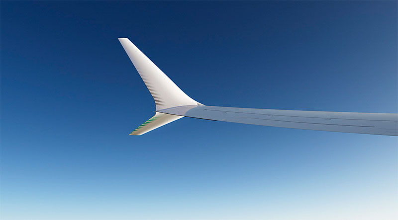 The Boeing 737 Max's redesigned winglet. Source: Boeing