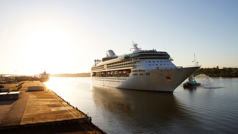 Legend of the Seas arriving in Brisbane. Source: Royal Caribbean International