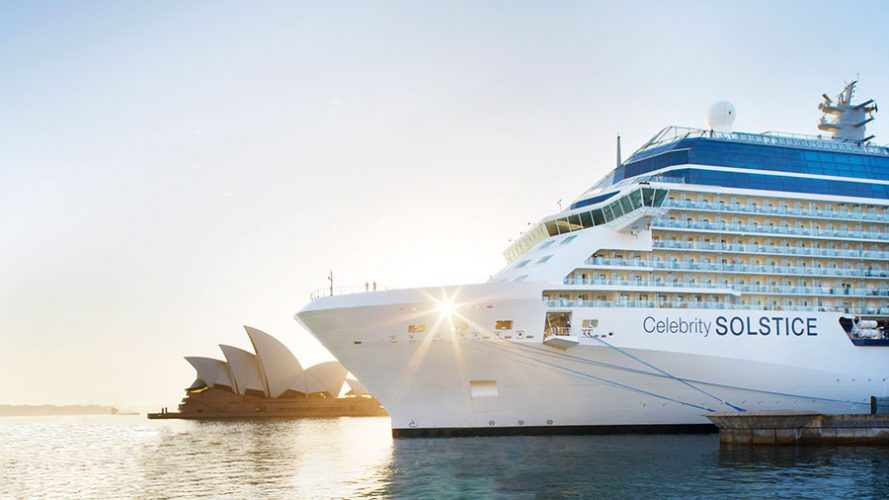 Celebrity Solstice in Sydney Harbour. Source: Celebrity Cruises