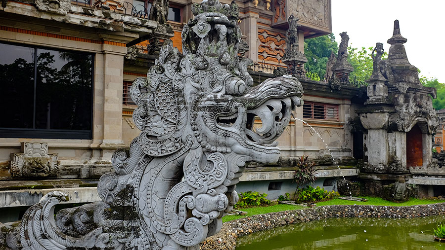 The Balinese section of Taman Mini Indonesia Indah