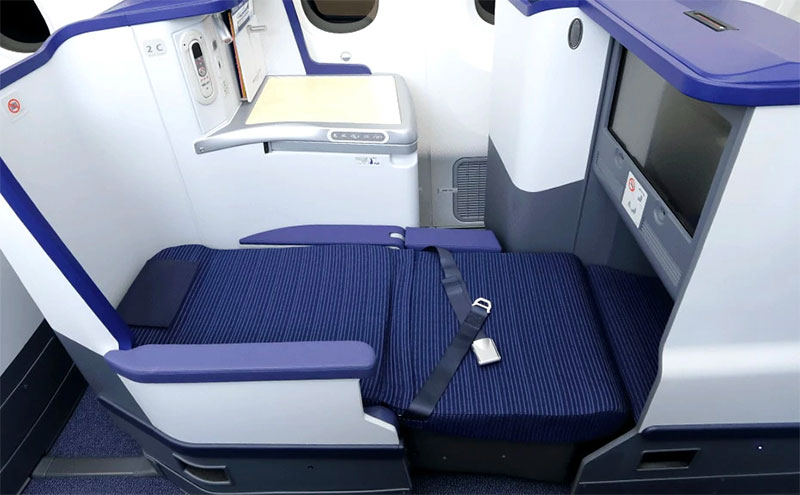 ANA Business Class - Full Flat Bed. Credit: All Nippon Airways