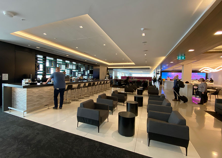 Air New Zealand Business Class Lounge, Sydney. Credit: Chris Ashton