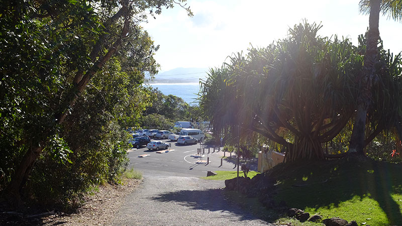 The finish point at Captain Cook Lookout. Credit: Chris Ashton