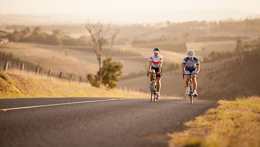 Cycling in Daylesford. Credit: A'qto Cycling