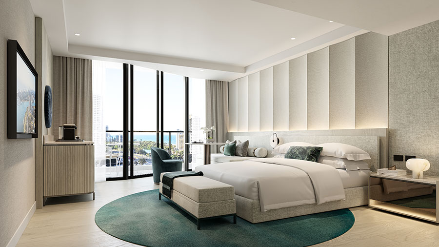 A render of the new look King Room. Credit: Marriott International / Supplied.