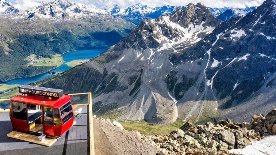 A tiny-house at Piz Nair. Credit: Switzerland Tourism / Supplied.