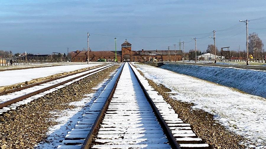 The Auschwitz-Birkenau train station. Photo: Simon Ceglinski