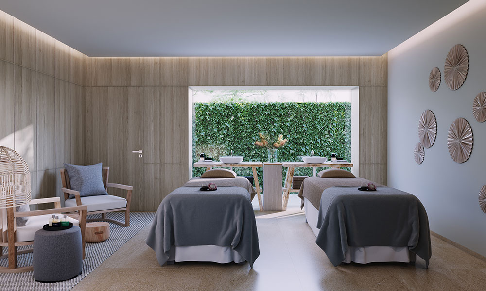 Treatment room at the new Eléme Day Spa. Credit: Crystalbrook Collection