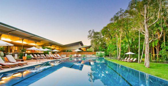 Byron at Byron's stunning resort pool. Credit: Crystalbrook Collection