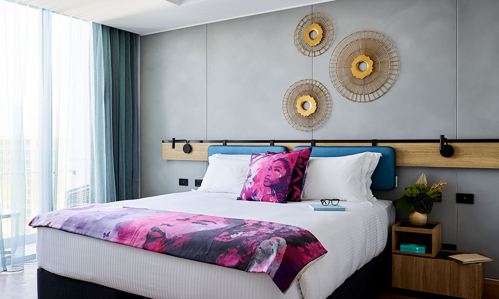 One of the oh-so-stylish guest rooms. Supplied.