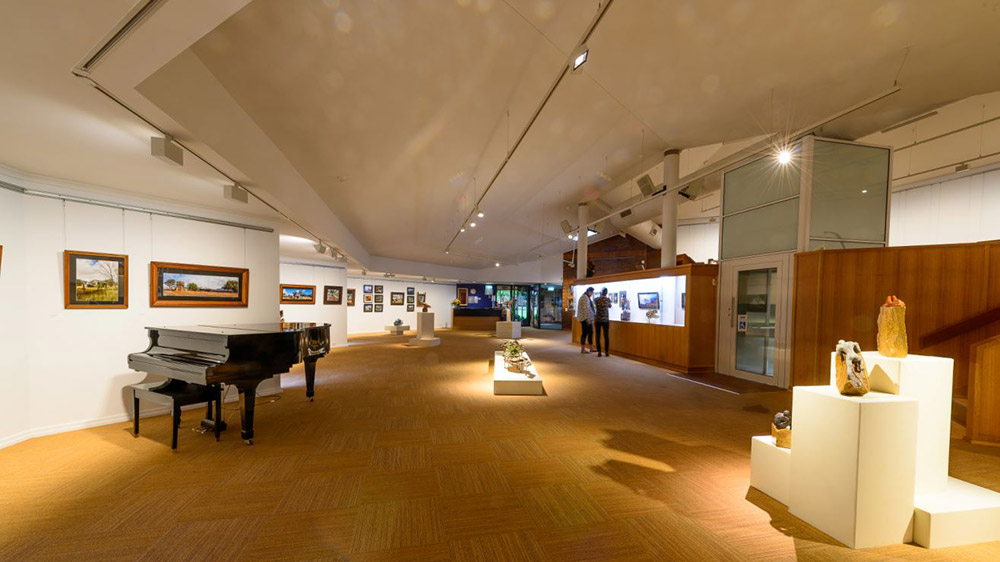 Interior of the Stanthorpe Regional Gallery. Supplied.