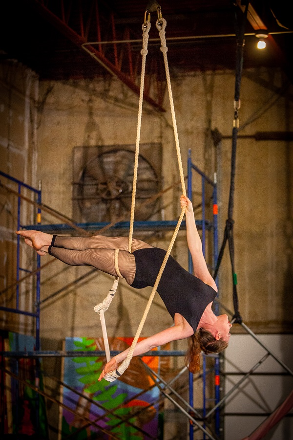 """The Greatest Show on Earth"" student showcase at High Expectations Aerial Arts.  Photo ©2018 Mark Adams, All Rights Reserved"