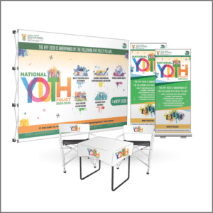 Branded banner and flag indoor combo 3