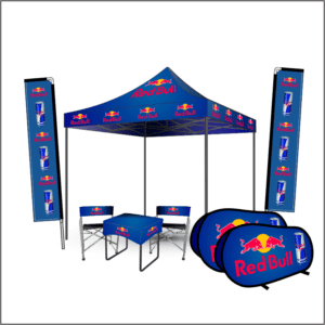 branded gazebo, flags and banners combo 2