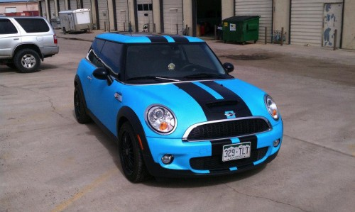 Blue mini wrap front