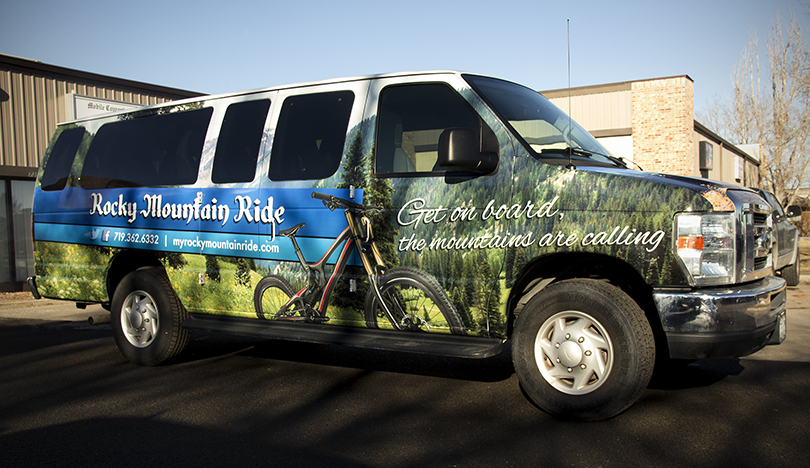 advertise on the road with vehicle wraps