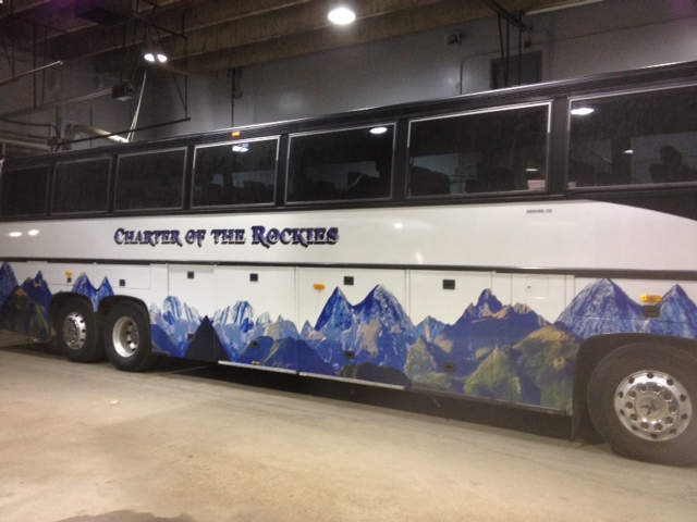 Bus fleet vehicle wrap side view