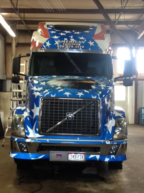 semi truck full reflective vinyl wrap