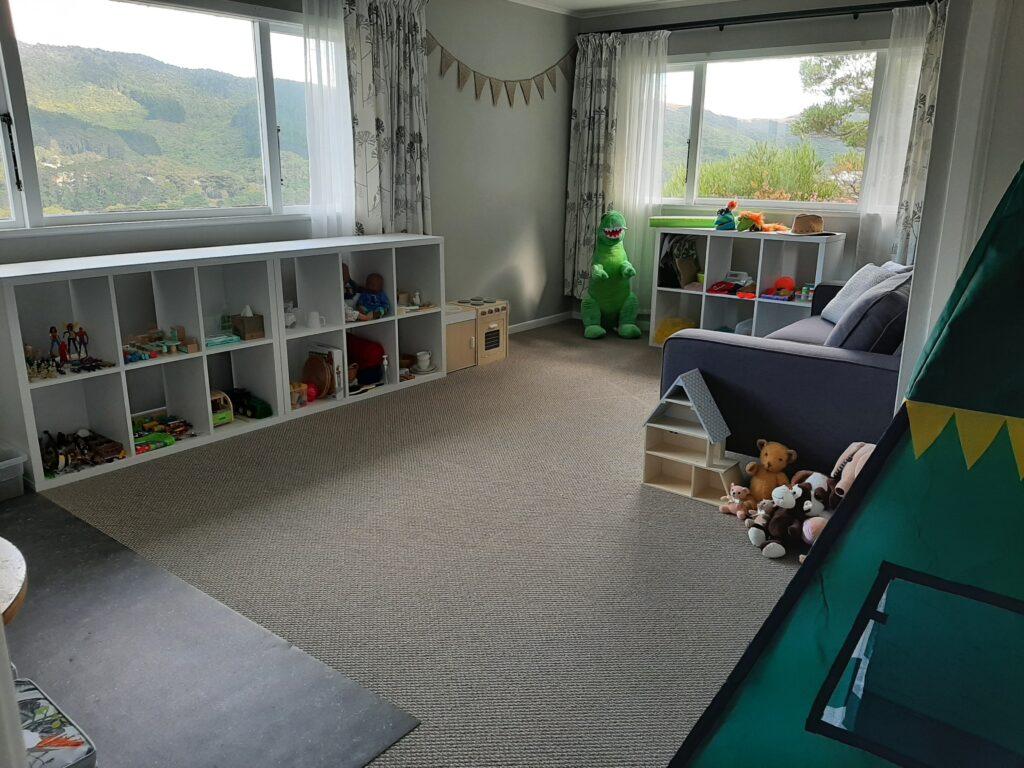 The playroom at Chrysalis Play Therapy