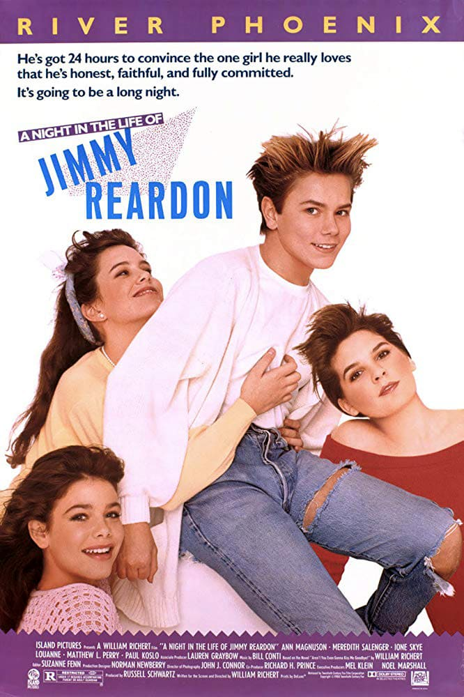"""Poster for the movie """"A Night in the Life of Jimmy Reardon"""""""
